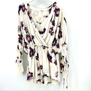 Free People Tunic Dress M Tuscan Dreams Floral